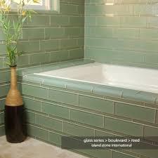 sea glass bathroom ideas sea glass tiles tub surround glass tile bathtub surround by