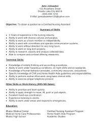 cna resume skills u2013 inssite