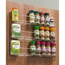 kitchen cabinet door spice rack three tier spice rack 288mm to suit 400mm door amazon co uk diy