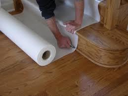 builders hardwood stair floor protection