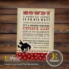 western baby shower invitation for baby shower glamorous western baby shower