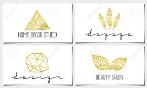 Modern Interior Design Business Cards A Set Of Four Modern And Elegant Business Card Templates In White