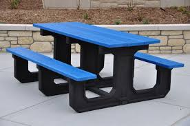 recycled plastic park place picnic table by jayhawk plastics