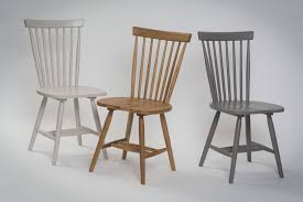 Oak Spindle Back Dining Chairs Rib Dining Chair Set Of Two Pr Home