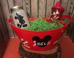personalized mickey mouse easter basket mickey mouse basket etsy