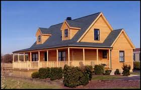 ranch style homes ranch style modular homes log siding and wrap around porch from