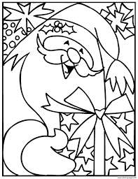 smiling santa christmas for kids036d coloring pages printable