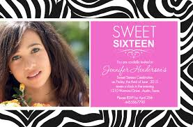free printable birthday invitation for girls sixteenth