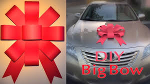 big bow for car present how to easily make your own car bow the news wheel
