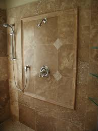 grand travertine marble shower views for wall installations also