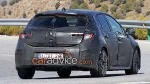 latest toyota 2018 toyota corolla hatch spied caradvice