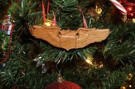 us air force pilot wings christmas ornament air force pilot