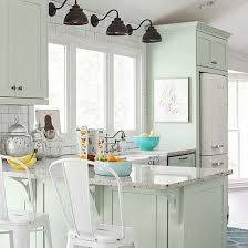 green base cabinets in kitchen 10 stunning farmhouse kitchens with coloured cabinets the