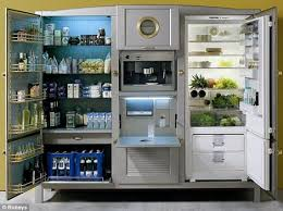 refrigerator that looks like a cabinet meneghini la cambusa fridge is practically a kitchen