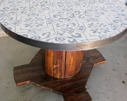 Wooden Spool Table For Sale Spool Table Etsy