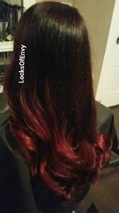 coke in curly hair cherry coke cola red mahogany brown to violet red ombre long curls