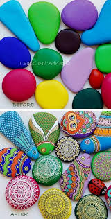 painting on stones is a craft that rocks painted stones how to