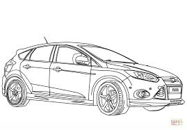 2012 ford focus sport coloring free printable coloring pages