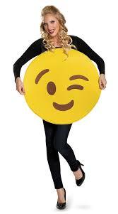Emoticon Costume Halloween Winking Emoji Costume Smiley Face Costume Emoji Costume