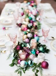 holiday table runner ideas modern christmas table setting ideas christmas celebration all
