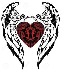 tattoo pictures of angel wings angel wings love tattoo royalty free cliparts vectors and stock