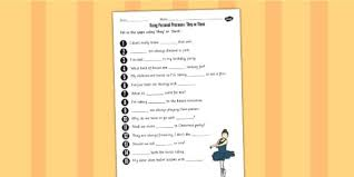 using personal pronouns they or them worksheet personal