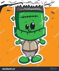 cute halloween character frankenstein stock vector 86503894