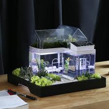 aquarium bureau acrylic mini micro landscape aquarium office desk small personal