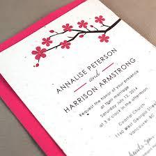 cherry blossom wedding invitations plantable cherry blossom wedding invitation plantable wedding