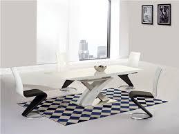 white dining room table extendable ga alexis xo designer extending white 160 220 cm dining set 4 6