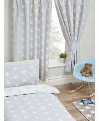 White Lined Curtains Grey And White Stars Lined Curtains Bedroom