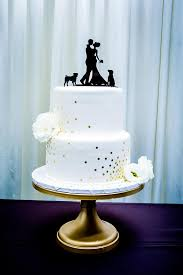 made in usa with pet dog wedding cake topper silhouette