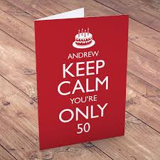 50 birthday card personalised 50th birthday cards from 1 49 gettingpersonal co uk