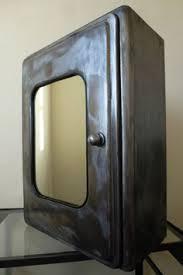 mirror cupboard bathroom pharmacy wall mount medicine cabinet burnished steel 500 master