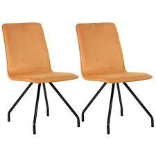chaises jaunes lot de 2 chaises jaunes