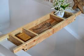 wood bath caddy etsy bath tray made order recycled pallet wood rustic style rack old world writing natural caddy