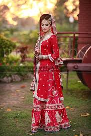 bridal dresses in red color traditional pakistani bridal dresses