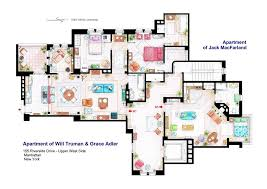 floor plan of home apartments of will truman grace adler and jack by nikneuk on