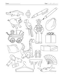 color the picture which start with letter p printable coloring