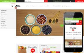 free online home page design grocery store a ecommerce category flat bootstrap responsive web