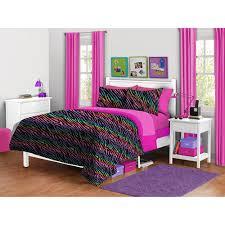 Queen Zebra Comforter Your Zone Zebra Plush Bedding Comforter Set Kids U0027 U0026 Teen Rooms