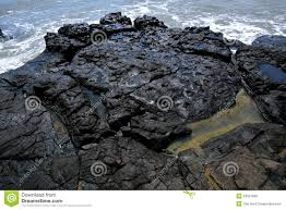 volcanic rock in black stock photography image 34015122