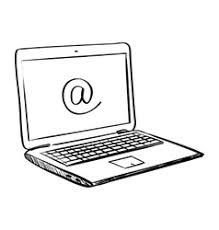 hand draw doodle laptop royalty free vector image