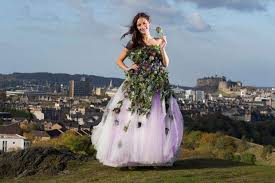 scottish wedding dresses scottish wedding show unveils dress made of thistles heraldscotland