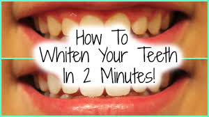 how to whiten your teeth in 2 minutes youtube