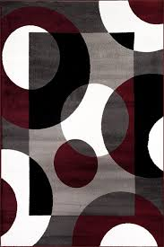 Black White Rugs Modern by Amazon Com Rugshop Modern Circles Area Rug 5 U0027 3