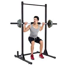 Bench Press Academy Goplus Adjustable Lifting Rack Squat Dumbbell Barbell Free Bench