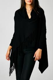 black fringe sweater lovestitch wrap fringe sweater from california by attire los