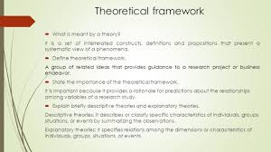 theoretical framework research paper research methodology ii term review theoretical framework what