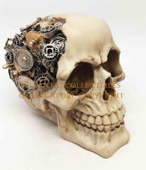 steampunk halloween demonic steampunk cyborg gear brain skull halloween skeleton